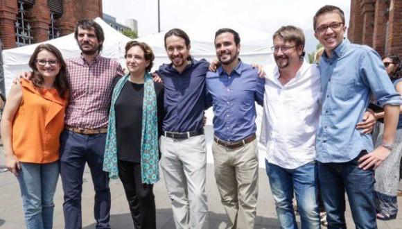 Pablo Iglesias i Ernest Urtasun denuncien davant la Comissió Europea les imputacions pel 9N