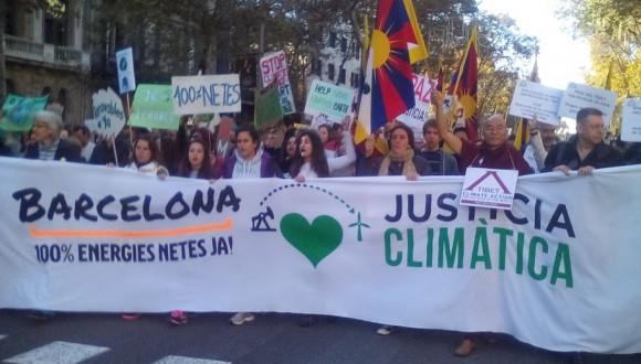 ICV participa en la manifestació per reclamar mesures urgents contra el canvi climàtic