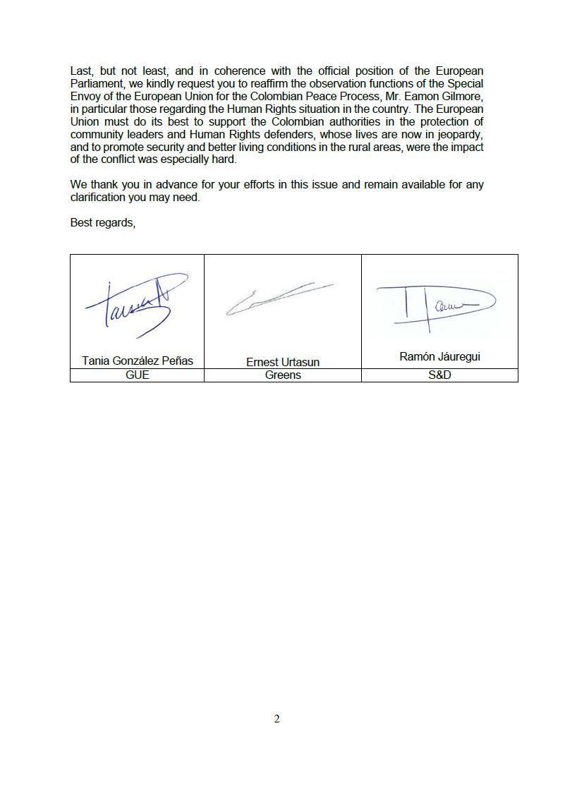 Carta Mogherini 2